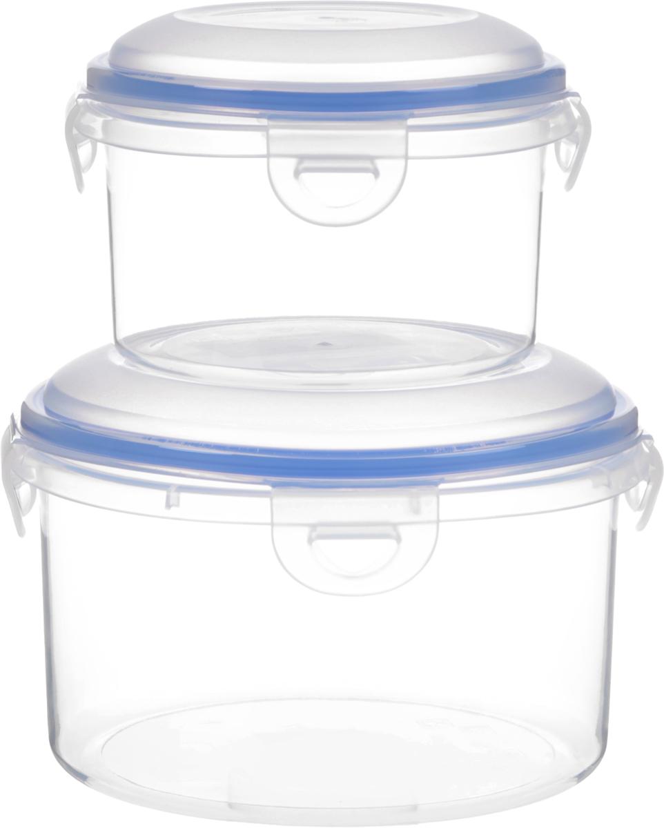 Набор контейнеров для хранения продуктов Oriental WayEnjoy, 2 шт2033BКомплект из двух контейнеров Enjoy круглый-1, полипропилен Китай, упакован в полиэтиленовую пленку, Объем контейнеров 0,45 л и 1,1 л, Контейнеры выполнены из высококачественного пластика, это удобная и легкая тара для хранения и транспортировки бутербродов, порционных салатов, мяса или рыбы, горячих и холодных блюд, даже жидких продуктов. Контейнеры 100% герметичен. Крышка оснащена четырьмя специальными защелками и силиконовым уплотнителем. Клипсы (защелки) позволяют произвести защелкивание более чем 400000 раз. Пустотелый силиконовый уплотнитель имеет большую гибкость и лучшее прилегание. Контейнеры могут быть вставлены один в другой, что позволяет сэкономить много пространства. Контейнер для СВЧ NeoWay Enjoy выдерживает температуру в диапазоне от -20°C до +120°C, его можно мыть в посудомоечной машине и нельзя нагревать пустым
