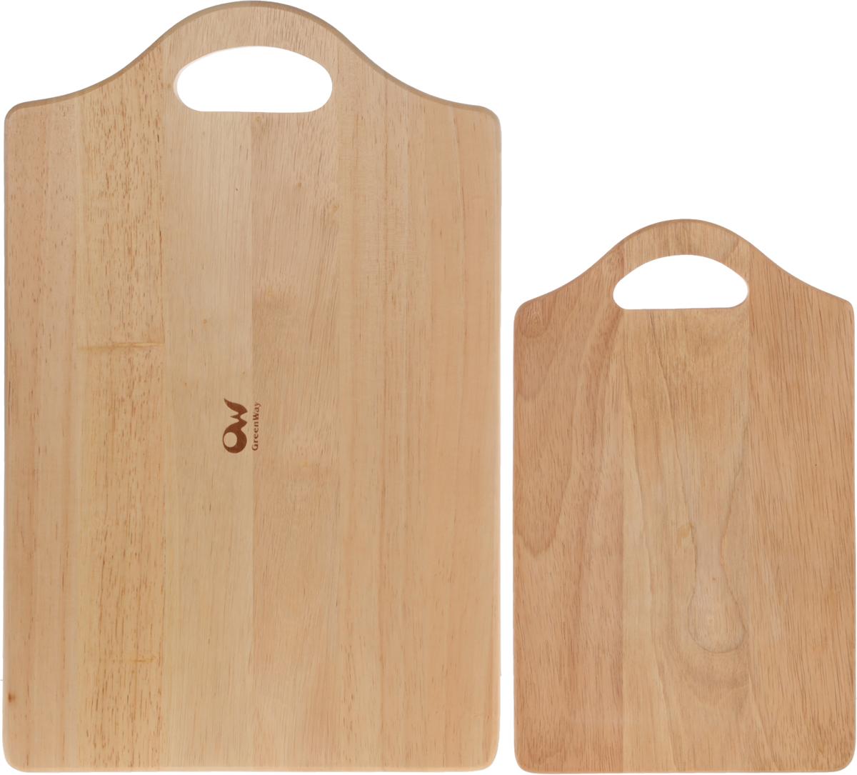 Набор разделочных досок Oriental Way Dommix, 2 штS730Комплект Oriental Way Dommix состоит из двух досок разного размера, изготовленных из древесины деревагевея. Прямоугольные разделочные доски с ручками прекрасно подходят для разделки пищи.Прочная древесина гевеи не портится от горячей воды и не впитывает влагу и запахи.Размер большой доски: 45 х 28 х 2 см Размер малой доски: 33 х 20 х 1 см.