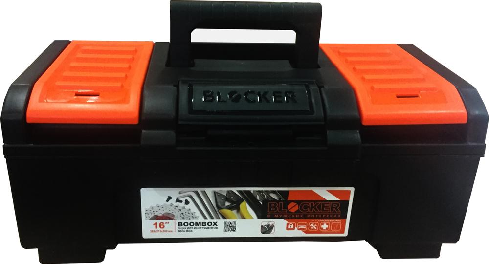 Ящик для инструментов Blocker Boombox, цвет: черный, оранжевый, 38,8 х 21,5 х 16 смBR3940ЧРОРЯщик Boombox предназначен для хранения ручного и электроинструмента. Модель изготовлена из прочного пластика и оснащена удобной ручкой, которая обеспечивает надежный перенос. Конструкция замка разработана специально для легкого открытия одной рукой, но при этом исключено случайное открывание ящика. За счёт опор в основании, ящик устойчивый и имеет максимальный объем хранения. Дополнительный съемный лоток и внешние отделения на крышке позволяют хранить необходимые инструменты и мелочи, например, саморезы и дюбели.