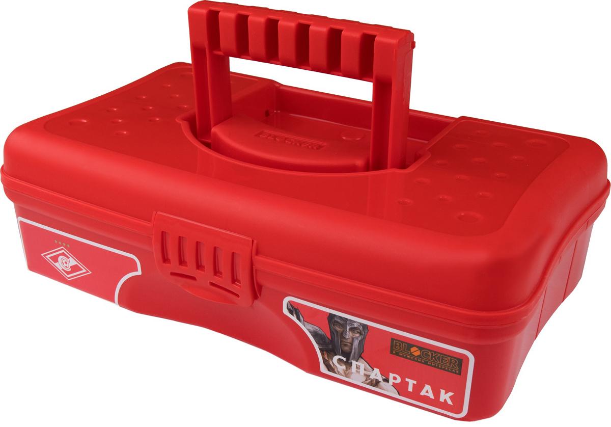 Органайзер для мелочей Blocker Спартак, цвет: белый, красный, 29,5 х 18 х 9 смBR4001КРВместительные, удобные и компактные органайзеры для мелочей. Функциональные деления внутри органайзера. Удобная складная ручка, крепкая застежка. Подходит для хранения швейных принадлежностей. Также может использоваться в качестве автомобильной и домашней аптечки.