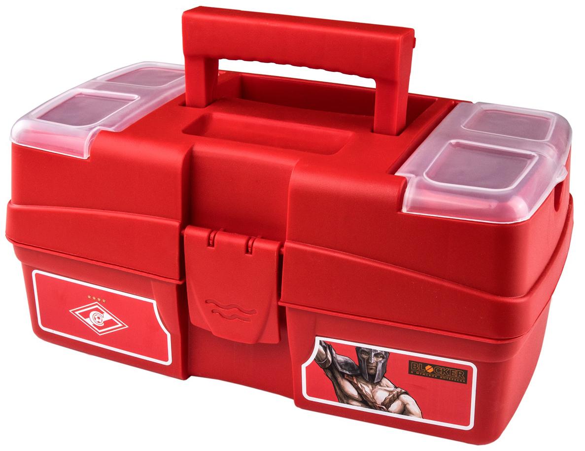 Ящик для инструментов Blocker, цвет: красный, 29 х 17 х 13,2 смBR4009КРМногофункциональный ящик небольшого размера. Отлично подходит для хранения мелких ремонтных и бытовых принадлежностей, а также используется в качестве аптечки дома и в автомобиле.