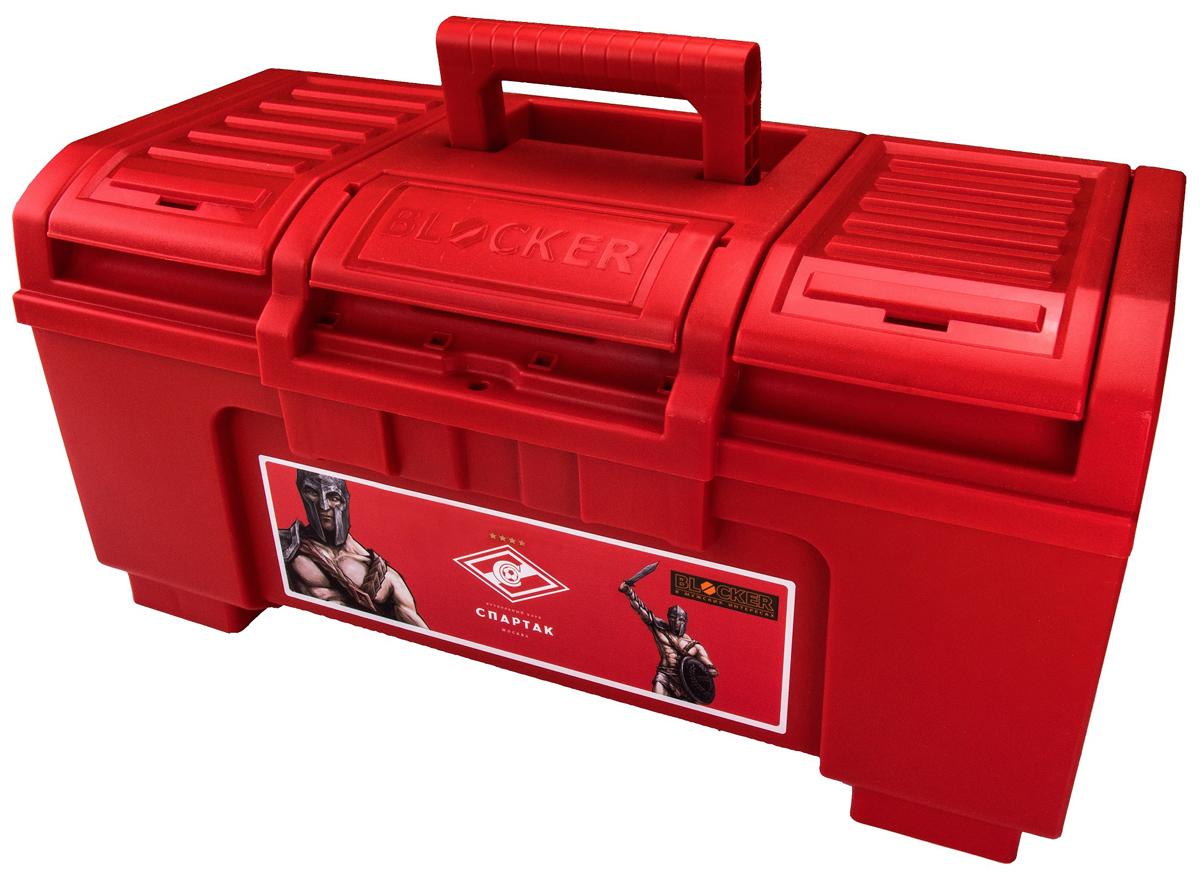 Ящик для инструментов Blocker Гладиатор, цвет: красный, 48 х 26,8 х 23,6 смBR4013КРЯщик Boombox предназначен для хранения ручного и электроинструмента. Модель изготовлена из прочного пластика и оснащена удобной ручкой, которая обеспечивает надежный перенос. Конструкция замка разработана специально для легкого открытия одной рукой, но при этом исключено случайное открывание ящика. За счёт опор в основании, ящик устойчивый и имеет максимальный объем хранения. Дополнительный съемный лоток и внешние отделения на крышке позволяют хранить необходимые инструменты и мелочи, например, саморезы и дюбели.