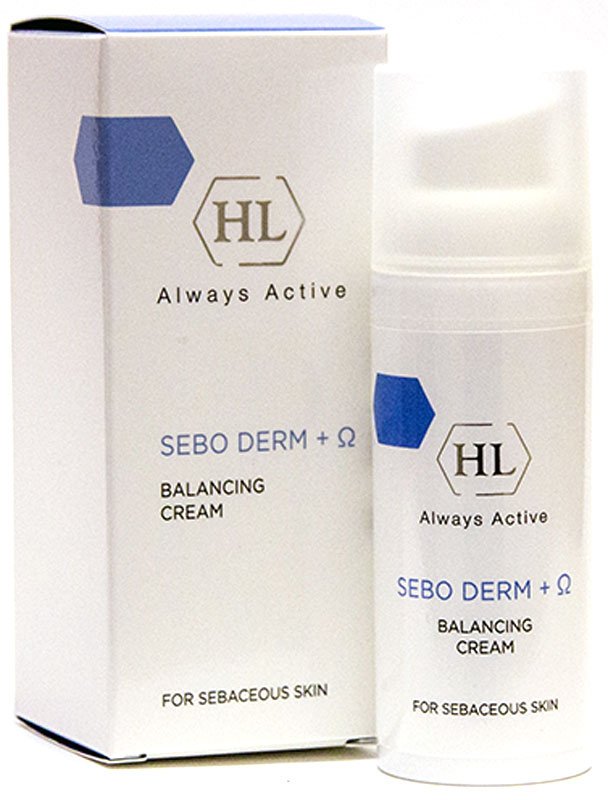 Holy Land Крем Creams Sebo Derm, 50 мл175057Крем Sebo Derm Balancing Cream (Holy Land) эффективный препарат для ухода за жирной и очень жирной кожей, а также против себорейного дерматита, в т.ч. на коже волосистой части головы.Он идеален для ежедневного применения: сужает поры, избавляет от жирного блеска, снимает раздражение. Биоактивный состав крема, обеспечивает регенерацию кожи, обладает заживляющим и бактерицидным действием, прекрасно увлажняет.Через месяц использования крема заметно улучшается состояние кожи. Активные ингредиенты: ферменты лактопероксидаза и лактоферрин обладают антибактериальным и антимикотическим действием в отношении Propionibacterium acne и Pityrosporum ovale, играющих значительную роль в развитии себорейного процесса.