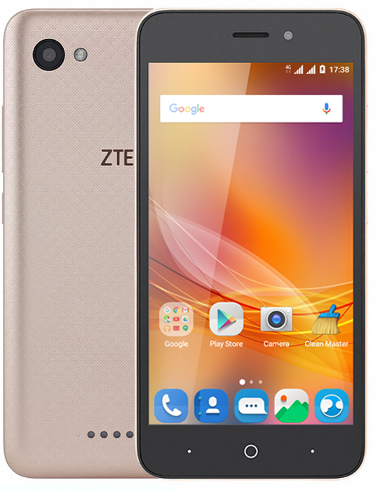 ZTE Blade A601, GoldZTE-BLADE.A601.GDСмартфон ZTE Blade A601 8 ГБ черныйСмартфон ZTE Blade A601 – это стильно выглядящее устройство, в чью изящную оболочку заключена неплохая начинка, дающая пользователю широкие возможности для общения, веб-серфинга, мультимедиа и прочего. С поддержкой сетей 4G вам обеспечен высокоскоростной доступ в сеть, так что никаких ограничений при работе с контентом! И никаких ограничений при общении – ведь устройство дает возможность использования 2 SIM-карт, что позволяет выбрать оптимальные тарифы для различных групп пользователей.Смартфон позволяет делать снимки отличного качества за счет множества функций и опций камеры на 8 Мп: вы можете произвести серийную съемку, использовать опцию распознавания лица, самостоятельно настраивать баланс белого. Просматривать отснятый материал с комфортом можно на 5-дюймовом экране с разрешением 1280x720. О быстродействии и хорошей производительности ZTE Blade A601 позаботятся 4 ядра процессора, 1 ГБ оперативной памяти. Удобства при использовании смартфона добавят и датчики освещения и приближения, а также акселерометр.