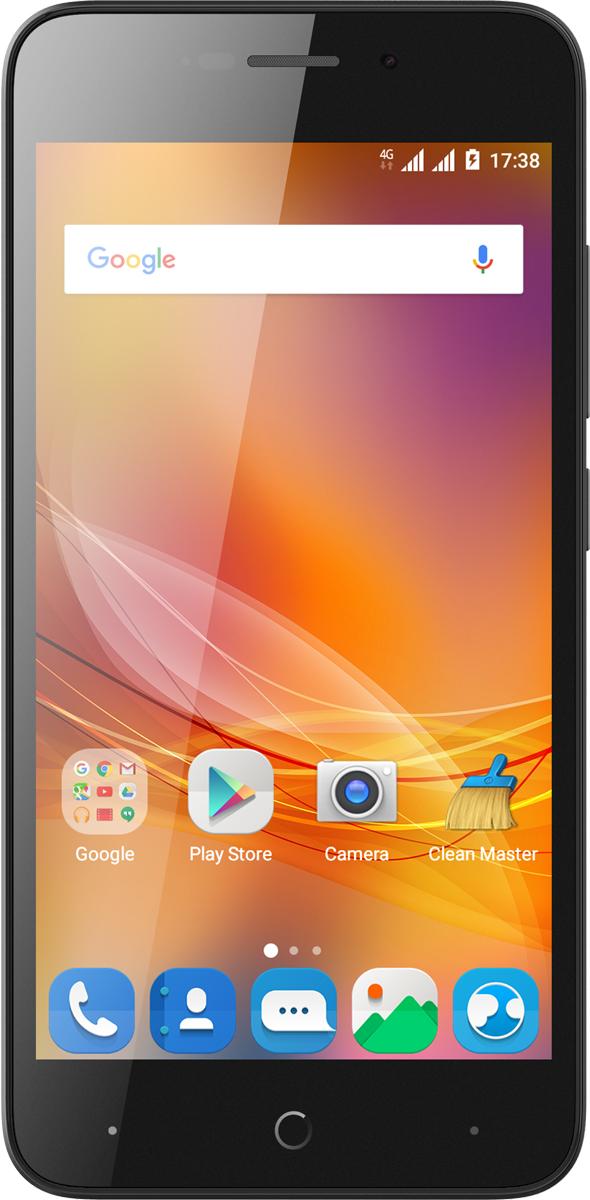 ZTE Blade A601, BlackZTE-BLADE.A601.BKСмартфон ZTE Blade A601 8 ГБ черныйСмартфон ZTE Blade A601 – это стильно выглядящее устройство, в чью изящную оболочку заключена неплохая начинка, дающая пользователю широкие возможности для общения, веб-серфинга, мультимедиа и прочего. С поддержкой сетей 4G вам обеспечен высокоскоростной доступ в сеть, так что никаких ограничений при работе с контентом! И никаких ограничений при общении – ведь устройство дает возможность использования 2 SIM-карт, что позволяет выбрать оптимальные тарифы для различных групп пользователей.Смартфон позволяет делать снимки отличного качества за счет множества функций и опций камеры на 8 Мп: вы можете произвести серийную съемку, использовать опцию распознавания лица, самостоятельно настраивать баланс белого. Просматривать отснятый материал с комфортом можно на 5-дюймовом экране с разрешением 1280x720. О быстродействии и хорошей производительности ZTE Blade A601 позаботятся 4 ядра процессора, 1 ГБ оперативной памяти. Удобства при использовании смартфона добавят и датчики освещения и приближения, а также акселерометр.Телефон для ребёнка: советы экспертов. Статья OZON Гид