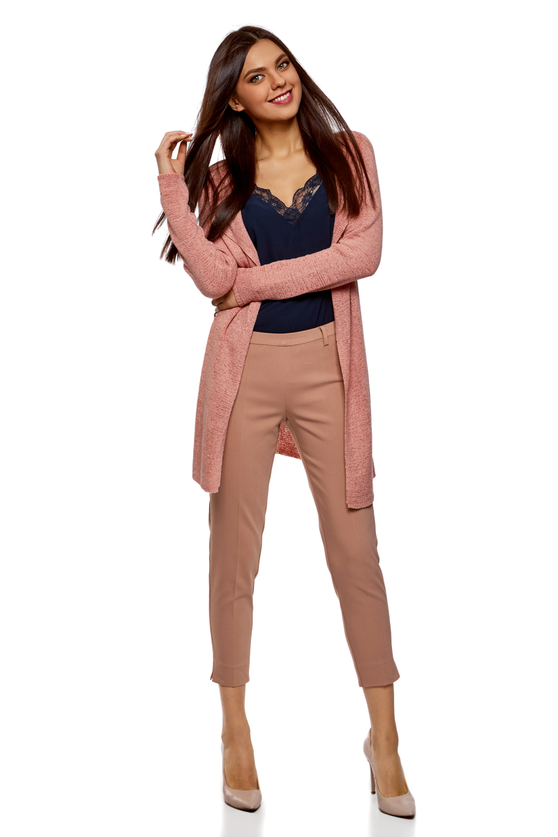 Брюки женские oodji Collection цвет: пыльный розовый. 21706022-5B/35589/4A01N. Размер 42-170 (48-170)