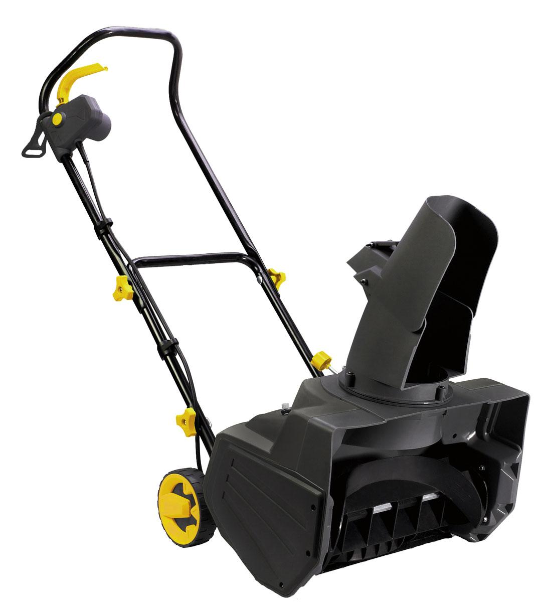 """Электрический снегоуборщик Huter """"SGC 2000E"""" применяется возле дома или гаража для расчистки территории от  снега. Имеет ковш шириной 46 см. Регулировка направления выброса снега, дальности выброса осуществляется  при помощи рычага. Вращение шнека и захват им снега облегчают передвижение агрегата. Двигатель рассчитан  на работу при низких температурах.  Двигатель - электрический  Мощность двигателя - 2000 Вт  Ширина захвата - 40 см  Высота захвата - 16 см  Тип перемещения - несамоходный Шнек - пластик Система шнеков - одноступенчатая Питание от сети - 220 В. Максимальная дальность выброса - 5 м."""