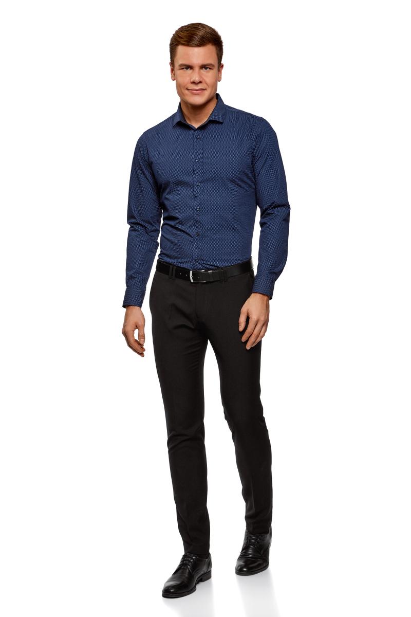 Брюки мужские oodji Basic, цвет: черный. 2B210016M/46317N/2900N. Размер 40-182 (48-182) пиджак мужской oodji basic цвет черный 2b510006m 46845n 2900n размер 56 182