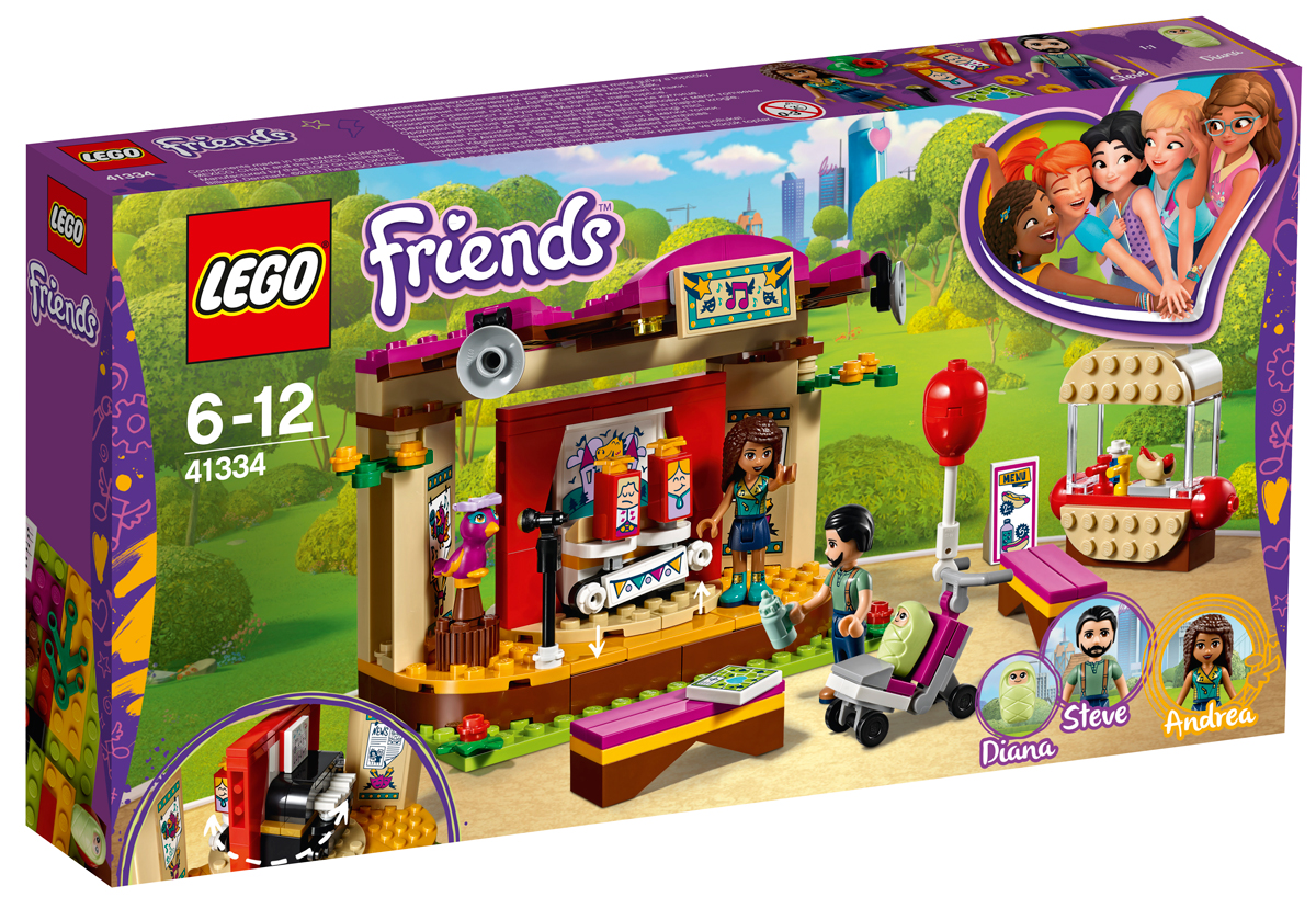 LEGO Friends Конструктор Сцена Андреа в парке 41334 конструктор lego friends 41334 сцена андреа в парке