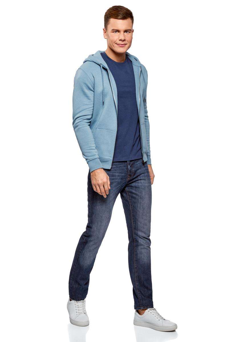 Джинсы мужские oodji Basic, цвет: голубой джинс. 6B120051M/45068/7400W. Размер 32-34 (50-34) bill george discover your true north