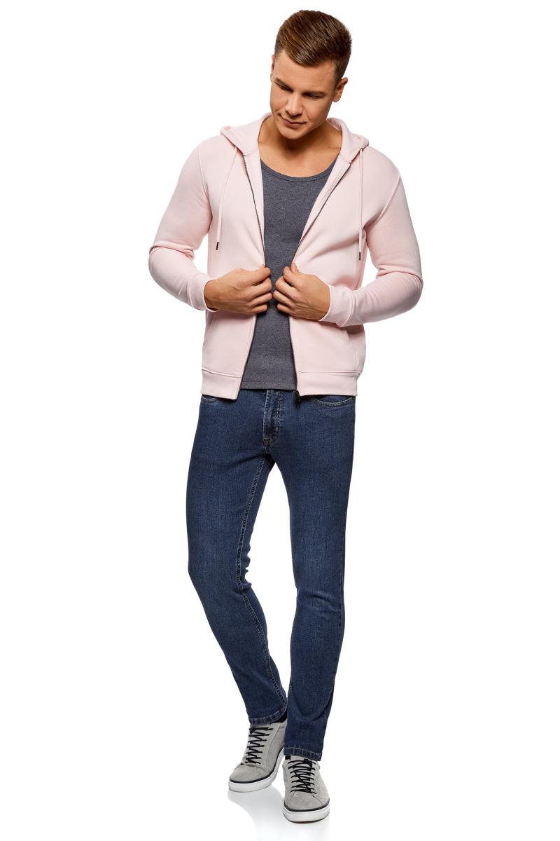 Джинсы мужские oodji Basic, цвет: синий джинс. 6B120051M/45068/7500W. Размер 34-34 (54-34) джинсы женские oodji ultra цвет синий джинс 12103151 1 45379 7500w размер 27 32 44 32