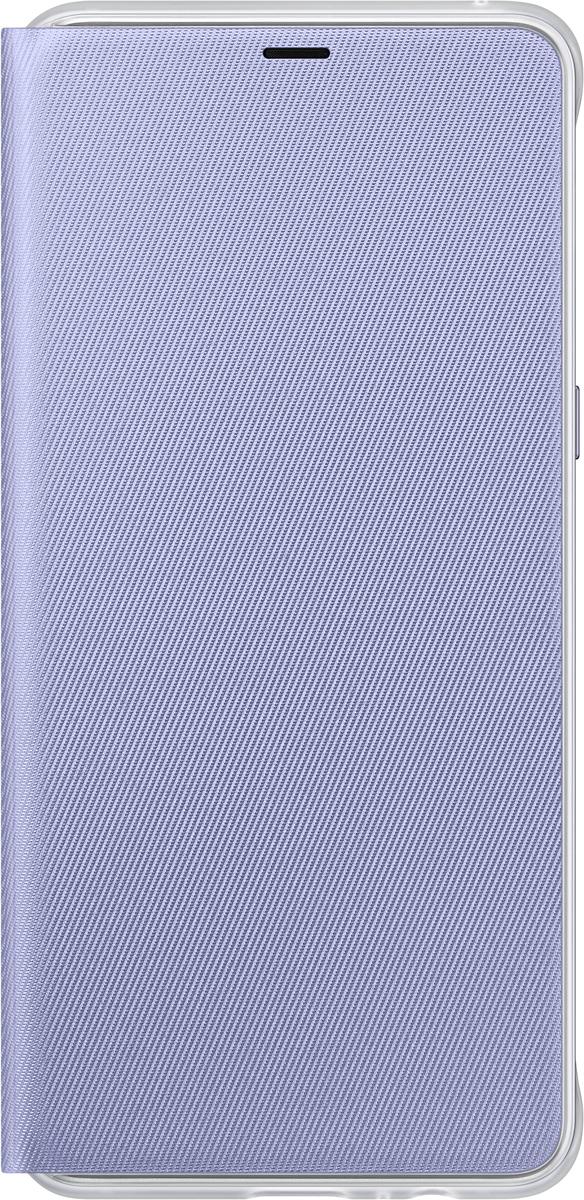 Samsung Neon Flip Cover чехол для Galaxy A8+, VioletEF-FA730PVEGRUЧехол Neon Flip Cover создан для качественной защиты смартфона Samsung Galaxy A8+ с учетом его особенностей. Он плотно прилегает к девайсу и защищает от пыли и царапин. Чехол выполнен из материалов высокого качества, приятен на ощупь, не увеличивает габаритов смартфона, подчеркивая его тонкую форму и современный стиль.