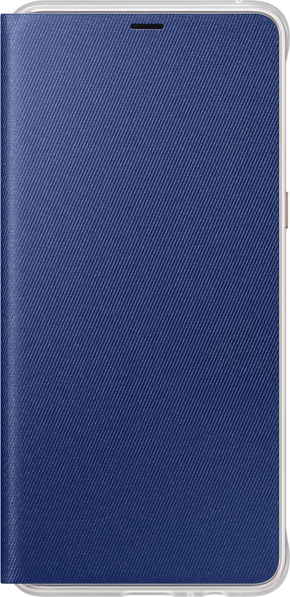 Samsung Neon Flip Cover чехол для Galaxy A8+, BlueEF-FA730PLEGRUЧехол Neon Flip Cover создан для качественной защиты смартфона Samsung Galaxy A8+ с учетом его особенностей. Он плотно прилегает к девайсу и защищает от пыли и царапин. Чехол выполнен из материалов высокого качества, приятен на ощупь, не увеличивает габаритов смартфона, подчеркивая его тонкую форму и современный стиль.