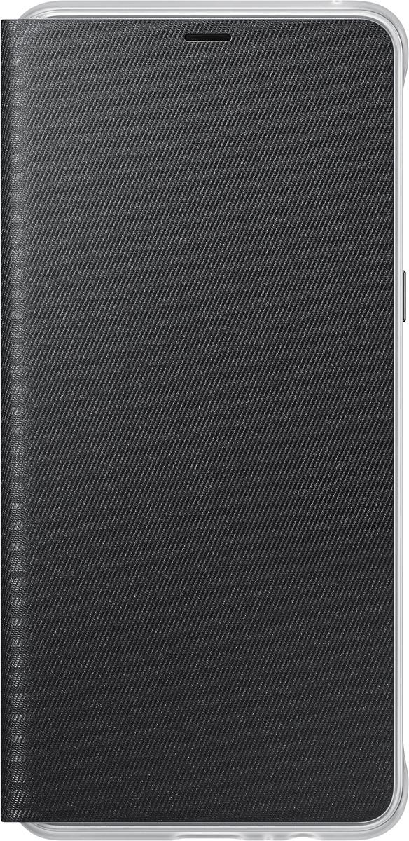 Samsung Neon Flip Cover чехол для Galaxy A8+, BlackEF-FA730PBEGRUЧехол Neon Flip Cover создан для качественной защиты смартфона Samsung Galaxy A8+ с учетом его особенностей. Он плотно прилегает к девайсу и защищает от пыли и царапин. Чехол выполнен из материалов высокого качества, приятен на ощупь, не увеличивает габаритов смартфона, подчеркивая его тонкую форму и современный стиль.