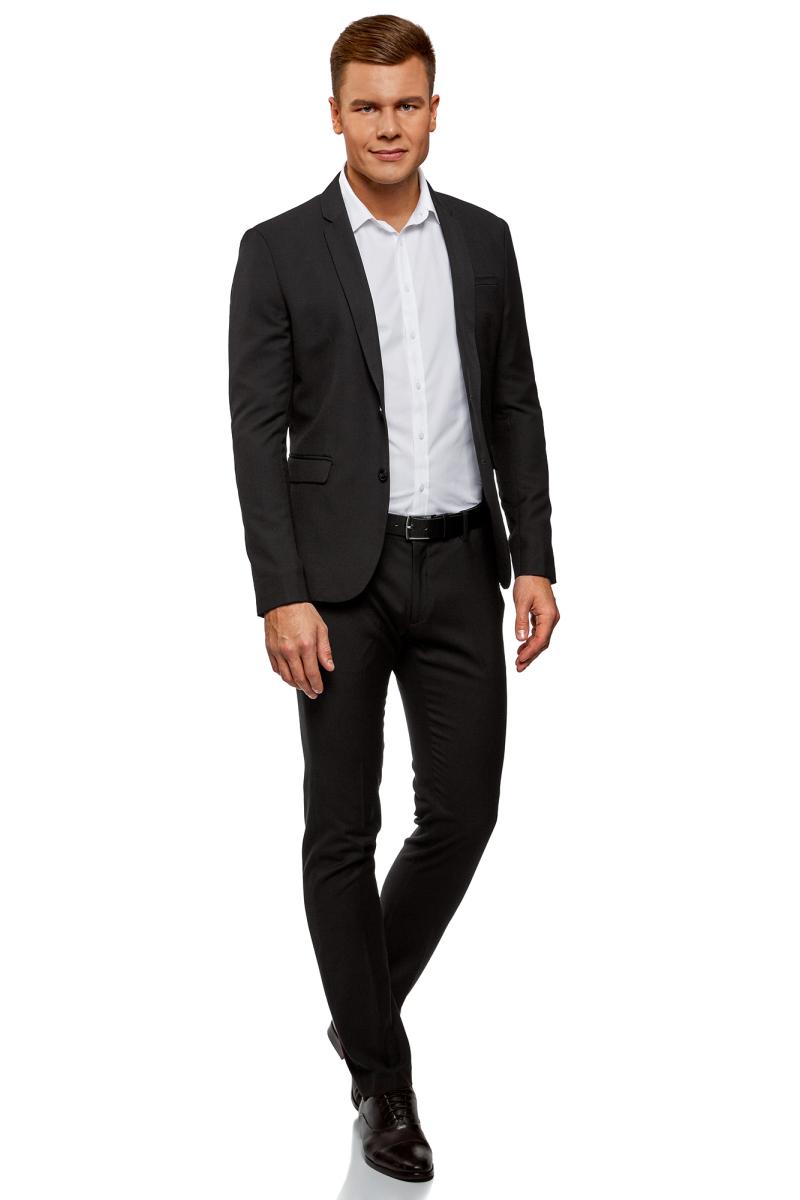 Пиджак мужской oodji, цвет: черный. 2B420016M/46317N/2900N. Размер 54-182 (54-182)2B420016M/46317N/2900N