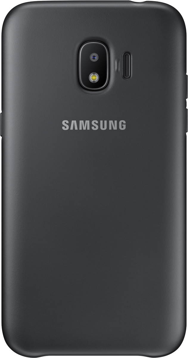Samsung Dual Layer Cover чехол для Galaxy J2 (2018), BlackEF-PJ250CBEGRUЧехол Samsung Dual Layer Cover изготовлен из эластичного полиуретана. Он защищает смартфон от воды, пыли и грязи, а также поглощает ударные нагрузки, предотвращая повреждение чувствительной электроники.Аксессуар слегка выступает над поверхностью дисплея, не допуская его соприкосновения с твёрдыми предметами. Благодаря этому экран всегда остаётся гладким и чистым, сохраняя отличную видимость изображения.Пользователь в любой момент может сделать снимок, подзарядить аккумулятор или совершить звонок. В поверхности чехла предусмотрены специальные вырезы для камеры, кнопок и других функциональных элементов.