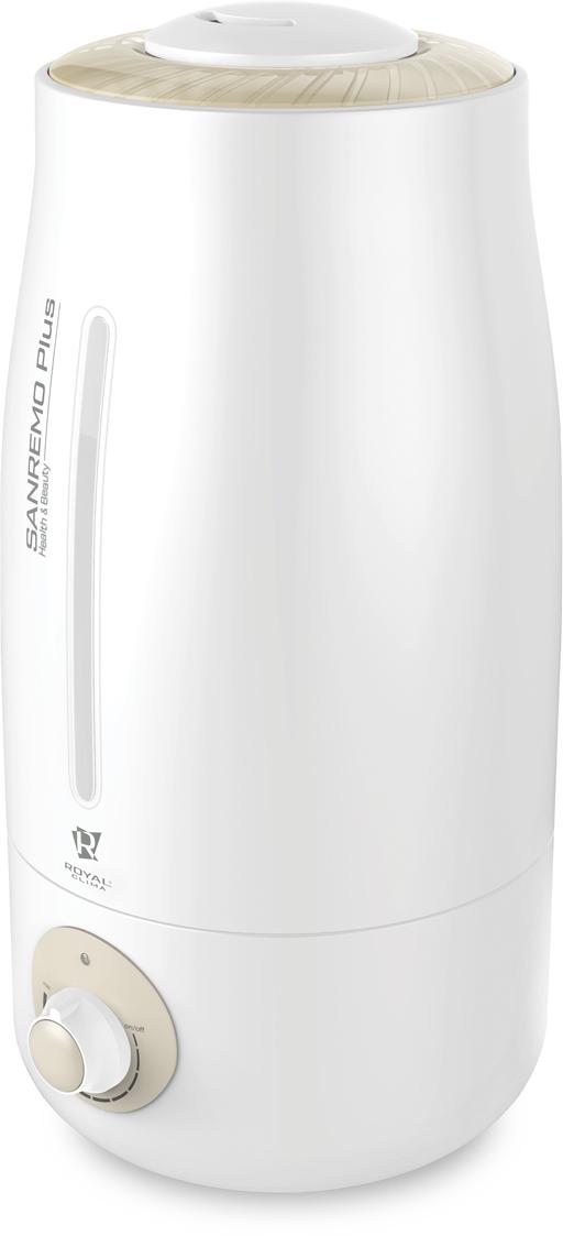 Royal Clima RUH-SP400/3.0M-G Sanremo Plus ультразвуковой увлажнитель воздухаRUH-SP400/3.0M-GКлассика никогда не выходит из моды, и в новом сезоне Royal Clima создает настоящую квинтэссенцию лаконичности, функциональности и удобства эксплуатации - серию Sanremo Plus (Санремо Плюс). Стоит отметить новый дизайн увлажнителя, приятные плавные линии корпуса, лаковый белоснежный пластик, специальное окно на фронтальной части прибора для контроля за уровнем воды, а также увеличенную производительность до 400 мл в час. Для беззаботной эксплуатации до 2-х лет в комплект увлажнителя воздуха входят 5 угольных фильтров для умягчения воды. 2 в 1: Увлажнитель + Ароматизатор воздуха;Интенсивное увлажнение воздуха до 400 мл в час;Оптимальный объем резервуара 3 литра;До 8 часов непрерывной работы на максимальной мощности без долива воды в резервуар;Эффективная ароматизация воздуха Aroma Nature;До 2-х лет беззаботного использования;5 угольных фильтров для очистки воды в комплекте;Свободный выбор направления подачи пара;Ротационная конструкция распылителя 360° Water UP I;Плавная регулировка интенсивности увлажнения воздуха;Панель управления серии Comodi luce , специальное окно для контроля за уровнем воды в баке;Бесшумная работа для комфортного использования во время сна и отдыха;Дополнительное антискользящее покрытие ножек основания прибора;Удобная установка на любой поверхности;Увеличенная длина шнура питания 1,6 м;Изящный итальянский дизайн расширенная цветовая гамма Bianco Satinato с элементами цвета шампань или элементами цвета серебра.