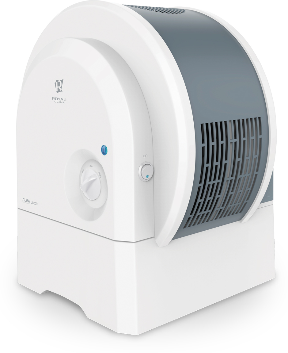 Royal Clima Alba Luxe мойка воздухаRAW-A300/6.0-WTRoyal Clima Alba Luxe (Альба Люкс) - это настоящая классическая дисковая мойка воздух. Естественноеприродное увлажнение воздуха происходит за счёт испарения воды с поверхности дисков, что исключаетвозможность перенасыщения воздуха влагой. Помимо высокой производительности по увлажнению (300 мл в час)и очистки воздуха прибор обладает встроенной отключаемой функцией ионизации воздуха. Модель оснащенадисковым модулем с двадцатью дисками диаметром 255 мм. Основной особенностью модели является большаяемкость для воды почти 6 литров, то есть мойка воздуха будет увлажнять помещение до 20-ти часов без доливаводы в резервуар. В комплект входит 5 фильтров для умягчения воды. Для удобства эксплуатации в моделипредусмотрены 3 режима - ночной, дневной и турбо.Увеличенная длина шнура питания до 1,65 м