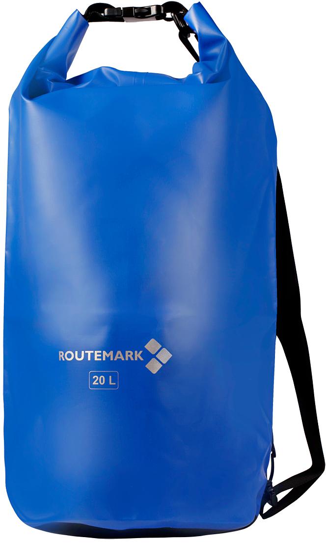 Гермомешок Routemark, цвет: синий, 58 х 36 см6307Гермомешок Routemark, изготовленный из прочного водоотталкивающего ПВХ, нужен всем, кто любит активноевремяпрепровождение. К гермомешку прикрепляется регулируемый по длине ремень на застежках-карабинах,благодаря чему вы сможете носить этот практичный мешок как рюкзак на плече, или же, как сумку в руках. Сподобным изделием, вы будете уверены, что ваши гаджеты, личные вещи, документы всегда будут в целостии сохранности и защищены от воды. Вместимость мешка: 20 л Ширина: 36 см Высота: 58 см.