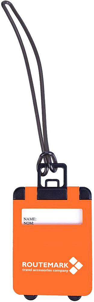 Бирка на чемодан Routemark, цвет: оранжевый, 7 х 5,5 см1692Чтобы обезопасить себя и свой груз, сократить время на поиски багажа на ленте транспортера в аэропорту и, даже в случае потери, упростить и ускорить поиски, необходимо использовать максимальное количество отличительных знаков при упаковке чемодана или сумки. Одним из таких отличительных черт должны стать бирки для багажа. Яркий оранжевый цвет бирки Routemark заметен издалека, и вы быстро и издалека увидите свой багаж. Также в бирке встроена специальная табличка, на которой рекомендуется указать ваше имя, телефон для связи и адрес. Это обезопасит ваш груз от того, что его кто-то заберет по ошибке. И в случае, если по какой-то причине чемодан был, например, отправлен не в тот аэропорт, или не на ту ленту, сотрудники аэропорта быстро найдут вас и вернут багаж.