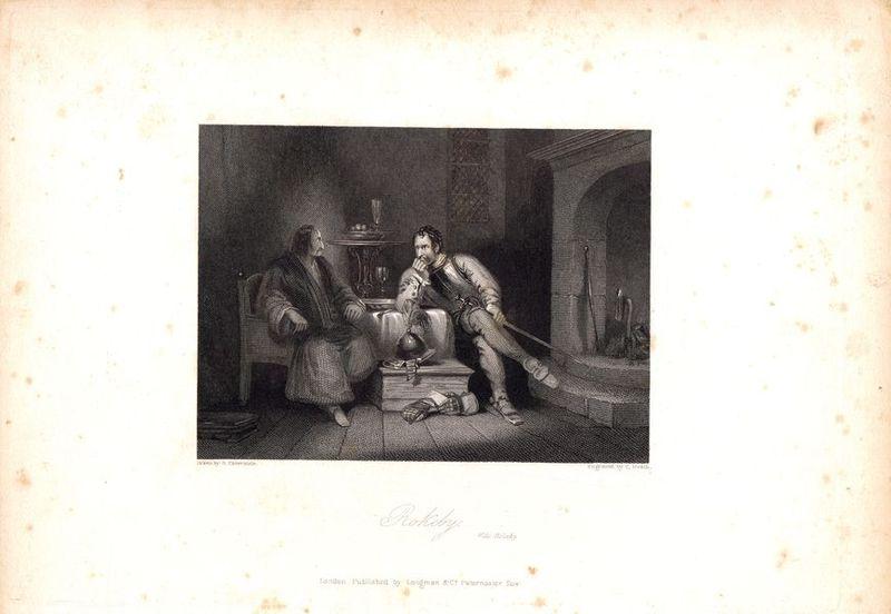 Сцена из произведения Вальтера Скотта