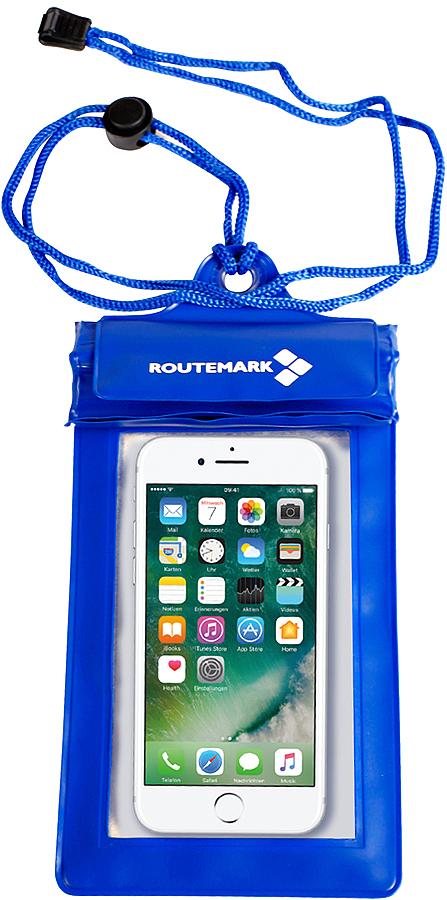 Гермомешок Routemark, цвет: синий, 280 х 11 см6451Водонепроницаемый чехол для телефона Routemark поможет сделать снимки под водой на смартфон. Выполнен из ПВХ. Он закрывается на три водонепроницаемых клапана, спрятанных под липучкой, что максимально защищает ваш смартфон от возможного попадания влаги.В комплект также входит шнурок на шею.Водонепроницаемый чехол отлично подойдёт на iPhone 5 и аналогичные по размеру модели смартфонов.