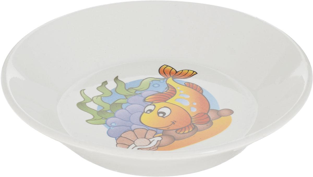 Блюдце Кубаньфарфор Морской мир. Рыба2220069_рыбаФаянсовая детская посуда с забавным рисунком Морской мир понравится каждому малышу.Изделие из качественного материала станет правильным выбором для повседневнойэксплуатации и поможет превратить каждый прием пищи в радостное приключение.