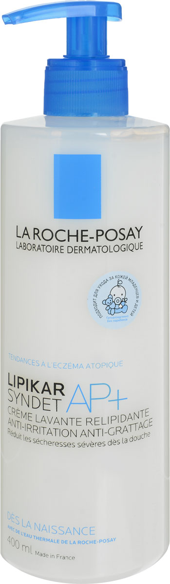 La Roche-Posay Lipikar Syndet АП+ 400млM9147400Липидовосстанавливающий очищающий крем-гель для лица и тела разработан для очень сухой, раздраженной, склонной к атопии кожи. Мягко очищает кожу младенцев, детей и очень сухую кожу взрослых. Нормализует липидный баланс кожи; Моментально смягчает кожу; Уменьшает выраженную сухость сразу после душа. Подходит для очищения кожи головы детей. Воздействует на все признаки, характерные для атопичной кожи.Липидовосстанавливающий комплекс с содержанием масла ши восстанавливает и укрепляет защитный барьер кожи. Ниацинамид - мгновенно успокаивает.Термальная вода La Roche-Posay - успокаивает, увлажняет ,снимает раздражение и обладает антиоксидантными свойствами. Для младенцев, детей и взрослых. Уважаемые клиенты!Обращаем ваше внимание на возможные изменения в дизайне упаковки. Поставка осуществляется в зависимости от наличия на складе.
