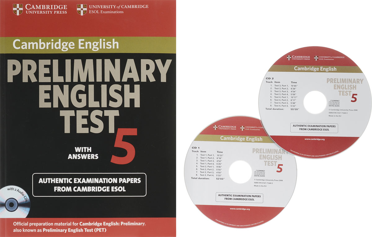 Cambridge Preliminary English Test 5: Self-study: Pack with Audio CD