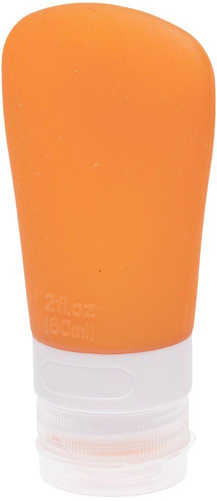 Dewal Beauty Дорожная баночка для путешествий, с присоской, цвет: оранжевый, 60 мл