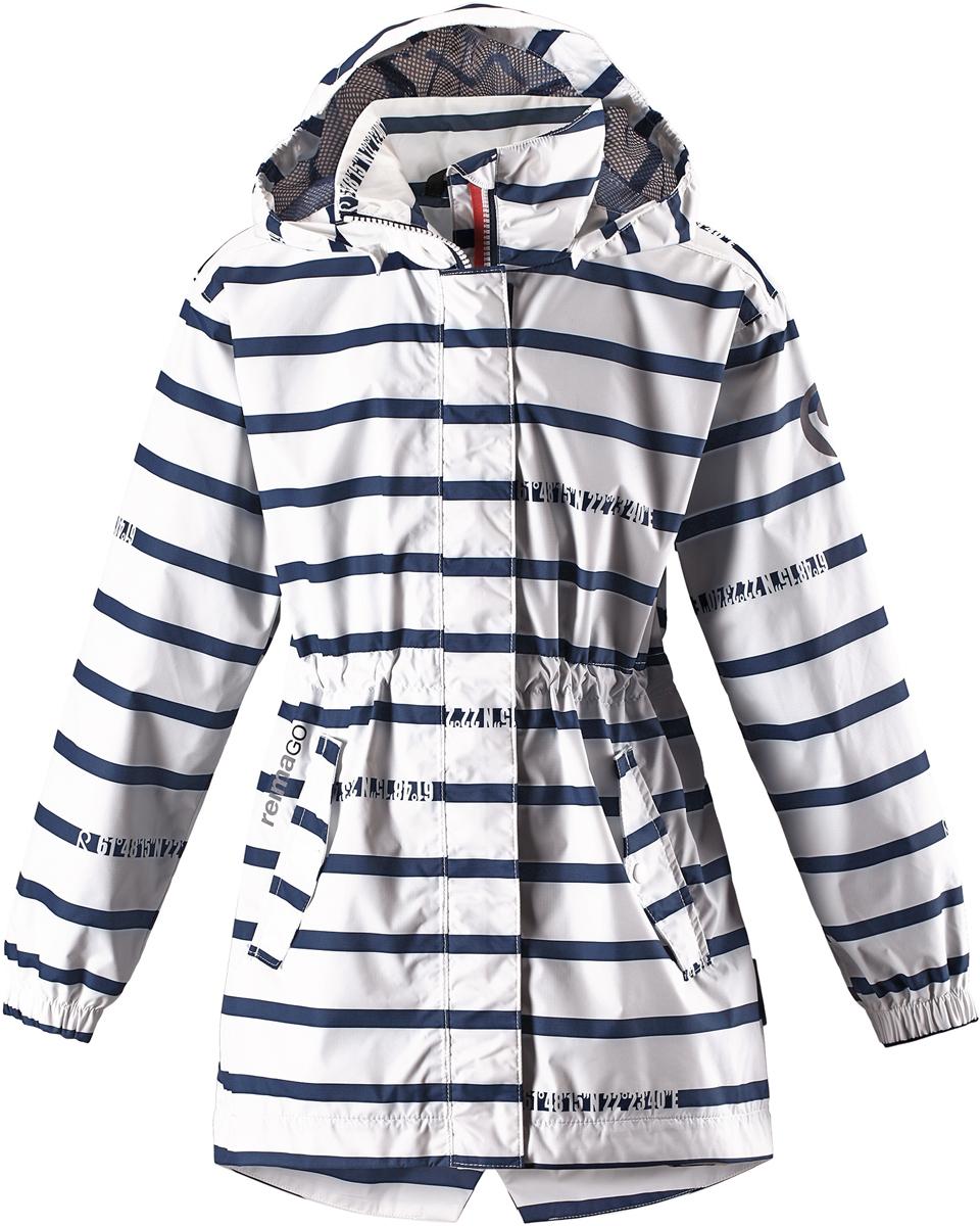 Куртка для девочки Reima, цвет: белый. 5313340102. Размер 1285313340102