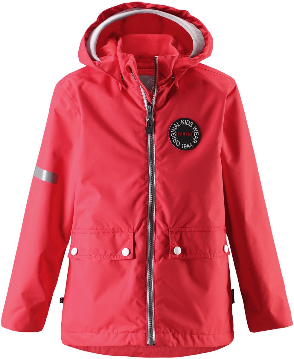 Куртка детская Reima, цвет: красный. 5215283340. Размер 1645215283340Детская куртка Reima выполнена из полиэстера с полиуретановым покрытием. Модель с воротником стойкой и съемным капюшоном застегивается на застежку-молнию. Капюшон пристегивается с помощью кнопок. Спереди расположены прорезные карманы с клапанами на кнопках. Низ рукавов дополнен трикотажными манжетами. Куртка оснащена съемной утепленной жилеткой. Изделие имеет светоотражающие элементы.
