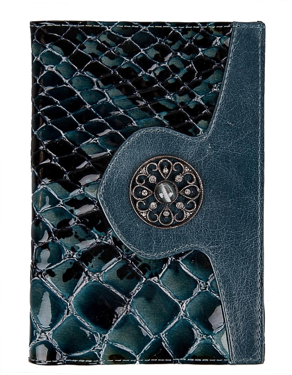 Обложка для паспорта женская Krystall, цвет: синий. 0-466(СВ)Натуральная кожаОбложка для паспорта Krystall декорирована оригинальными кристаллами Swarovski. Внутритекстильная подкладка и боковые кармашки.Обложка для паспорта Krystall придется по вкусу любой женщине, следящей за модой.