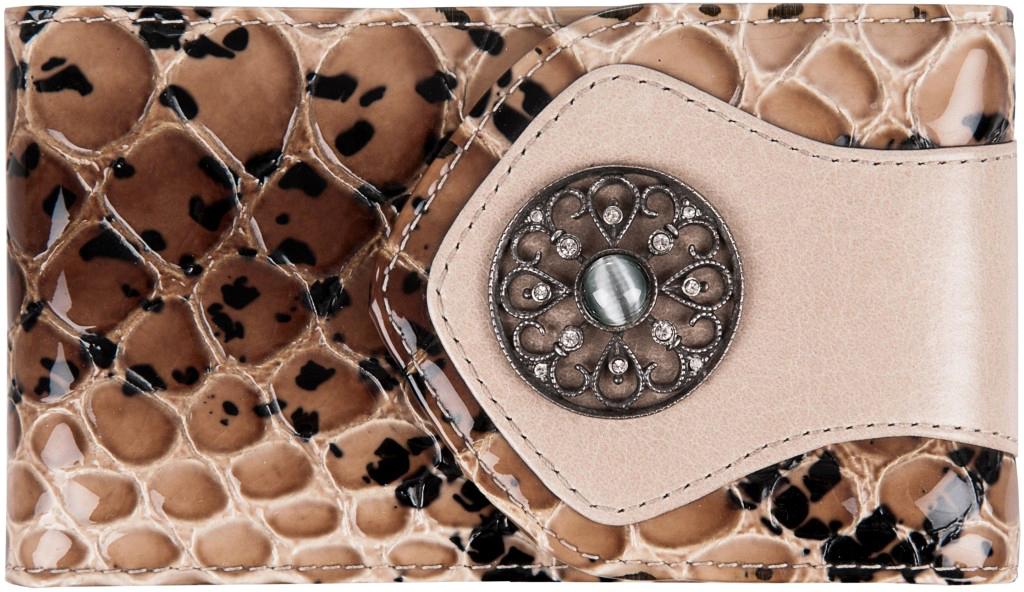 Визитница женская Krystall, цвет: бежевый. 0-478(СВ) обложка для паспорта женская krystall цвет черный 0 509 св