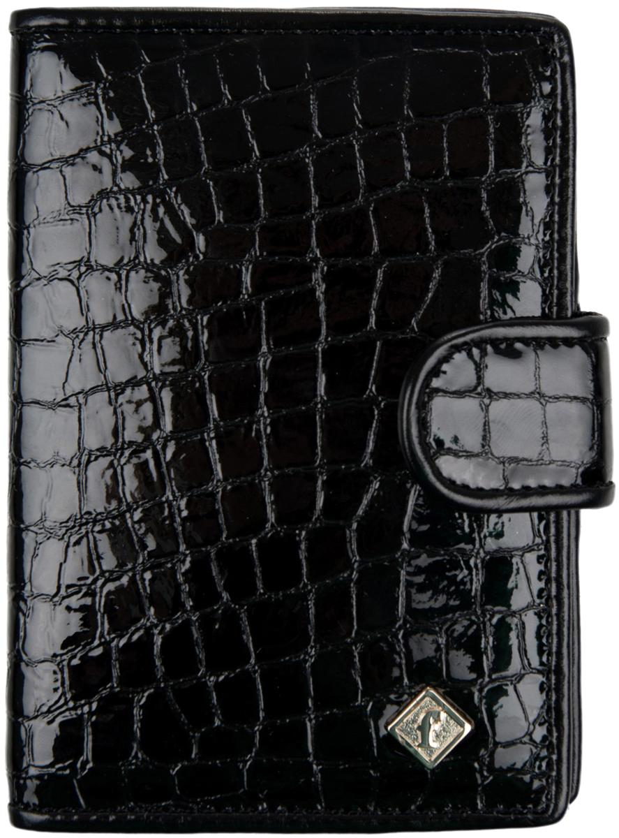 Обложка для автодокументов женская Alliance, цвет: черный. 0-552-880-552-88 л крЖенская обложка имеет внутри пластиковый вкладыш, нарезку для для кредитных карт.Закрывается на кнопку.
