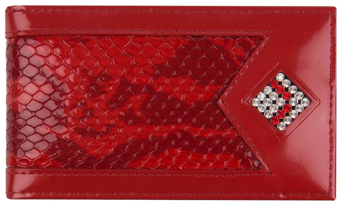 Визитница женская Krystall, цвет: красный. 0-602(СВ) обложка для паспорта женская krystall цвет черный 0 509 св