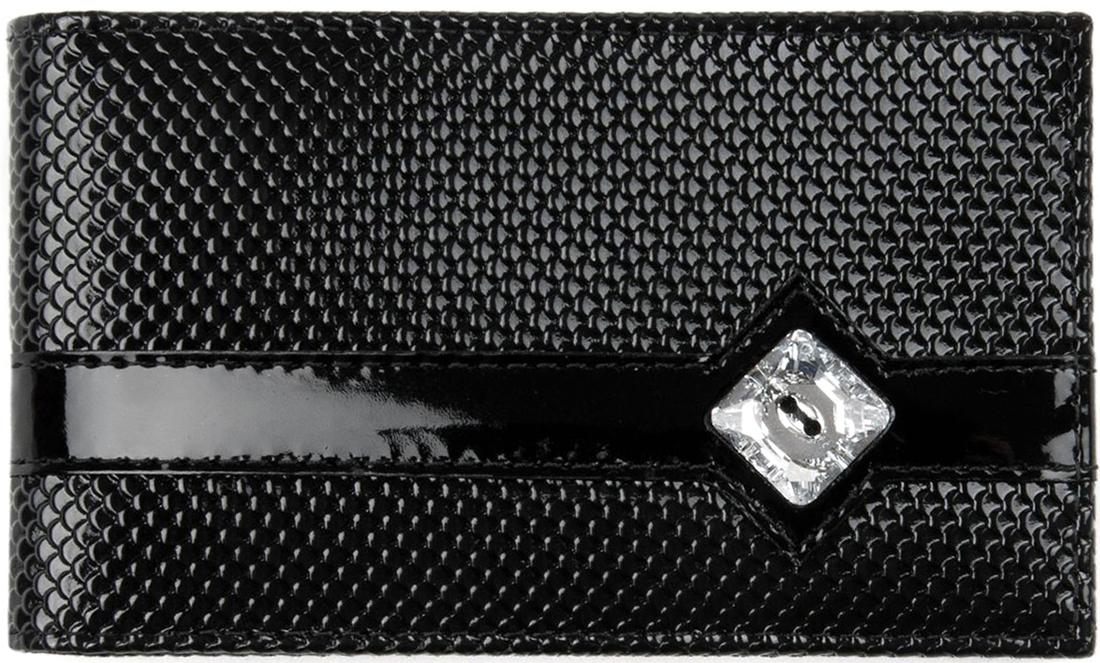 Визитница женская Krystall, цвет: черный. 0-623(СВ) обложка для паспорта женская krystall цвет черный 0 509 св