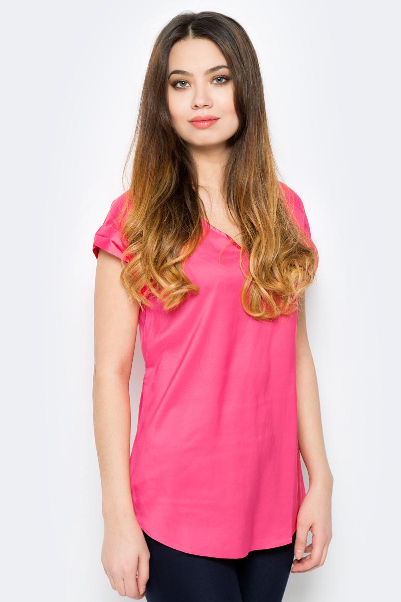 Блузка женская Sela, цвет: красный. Tws-112/804-8111. Размер 50 блузка женская sela цвет молочный twsl 112 805 8111 размер 50
