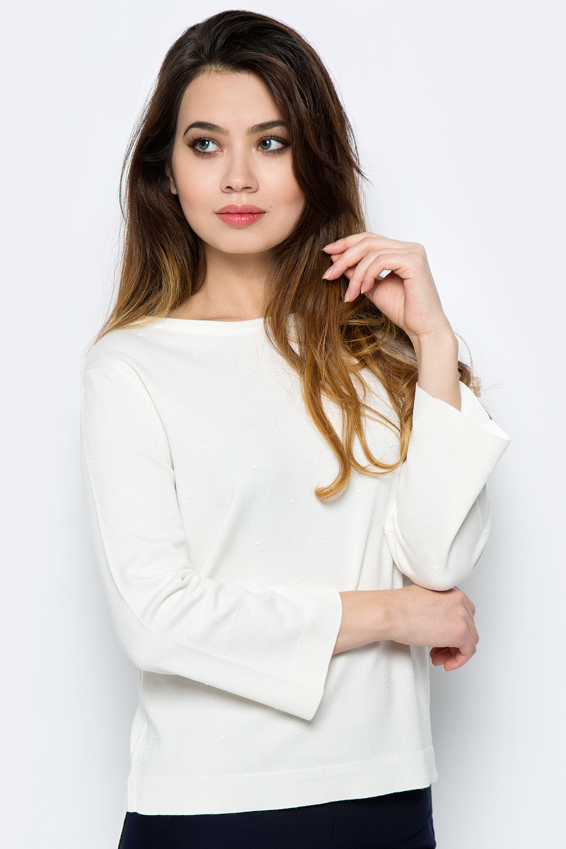 Джемпер женский Sela, цвет: молочный. JR-114/1235-8121. Размер XL (50) все цены