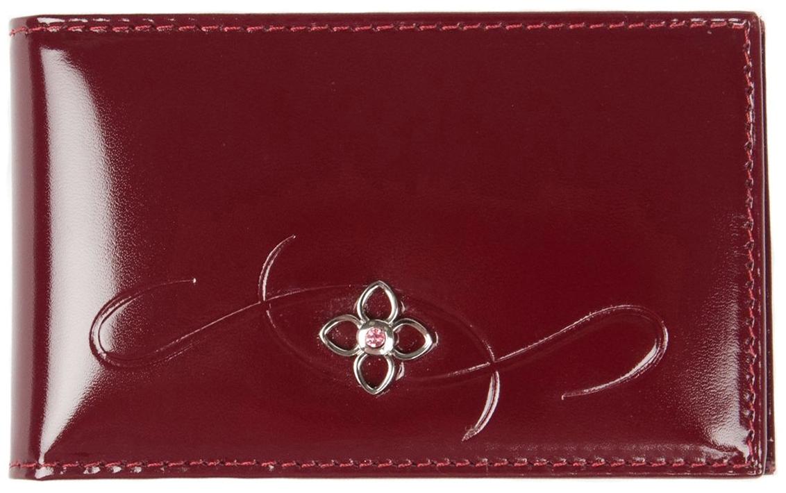 Визитница женская Constanta, цвет: красный. 0-516