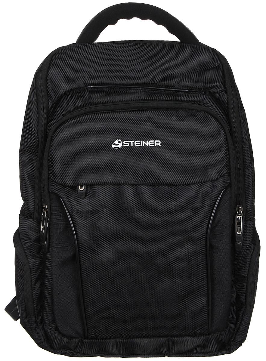 Steiner Рюкзак цвет серый155732_серыйСтильный строгий рюкзак для мужчин и подростков Steiner - многофункциональный и вместительный. Благодаря средним размерам, наличию множества карманов, универсальной расцветке рюкзак подойдет, как для школьников и студентов, так и мужчинам для городских передвижений.Рюкзак имеет анатомическую, дышащую спинку; плотные широкие регулируемые лямки, которые позволяют равномерно распределять нагрузку на спину; уплотненную ручку для переноски в руках; дополнительную ручку-петлю для подвешивания рюкзака на крючок; качественные молнии, защищающие попадание влаги внутрь рюкзака. Изделие содержит одно большое основное отделение на молнии с двумя бегунками; два передних накладных отделения на молнии (в переднем расположен органайзер для канцелярии); боковые карманы на молнии для мелочей.