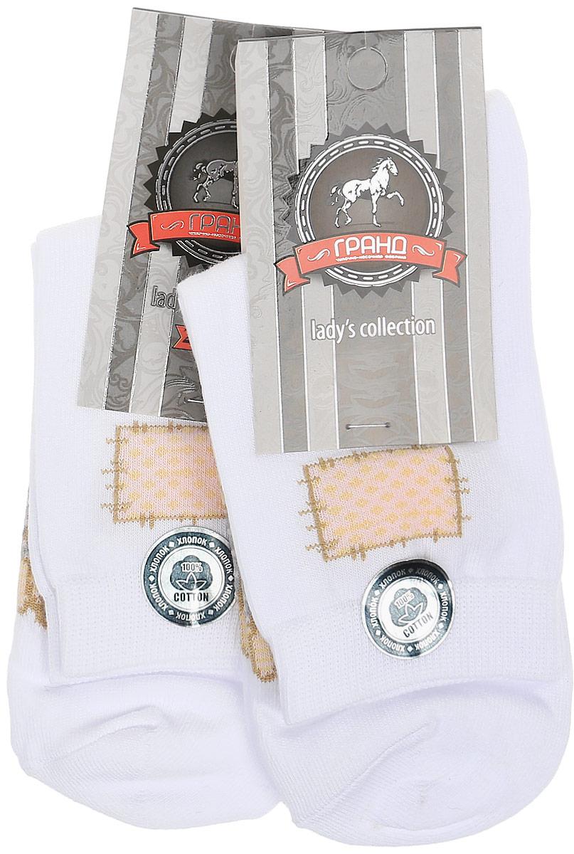Носки женские Гранд, цвет: белый, 2 пары. SCL79. Размер 23/25 носки гранд носки