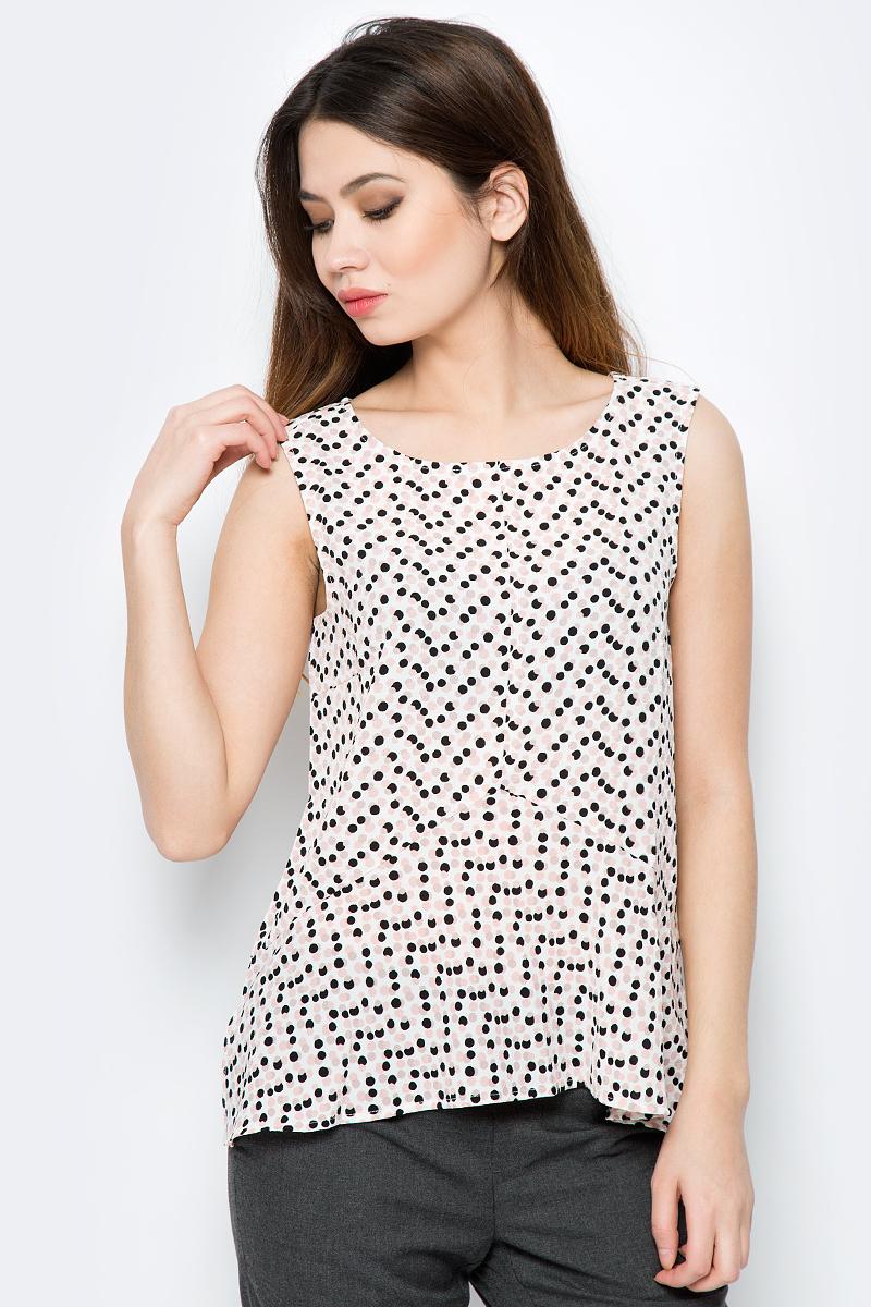 Блузка женская Sela, цвет: молочный. Twsl-112/789-8121. Размер 48 блузка женская sela цвет красный twsl 112 805 8111 размер 44