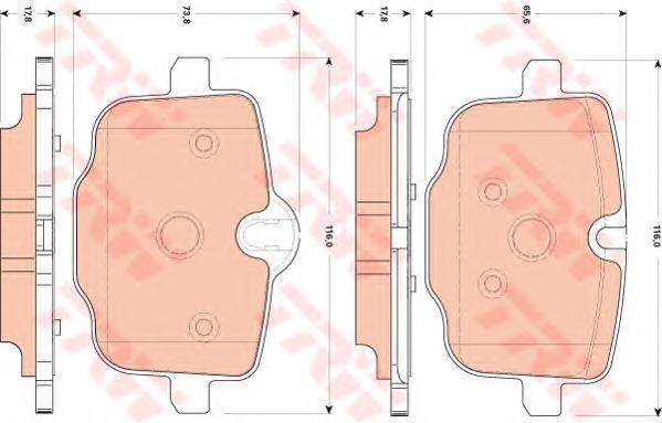 Колодки тормозные дисковые TRW. GDB1869GDB1869