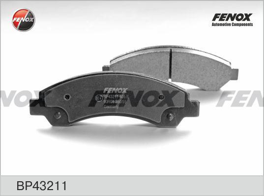 Колодки тормозные дисковые Fenox. BP43211BP43211