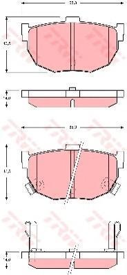 Колодки тормозные дисковые TRW. GDB3368GDB3368