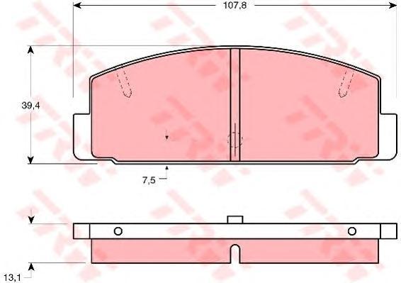 Колодки тормозные дисковые TRW. GDB1027GDB1027