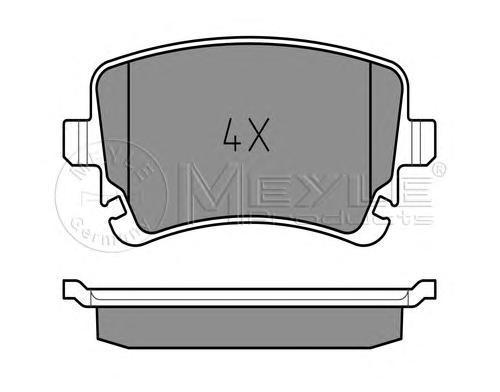 Колодки тормозные дисковые Meyle. 0252332617/W0252332617/W