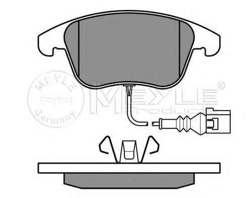 Колодки тормозные дисковые Meyle. 0252433219/W0252433219/W