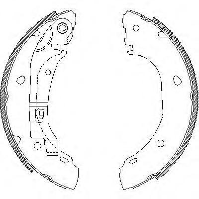 Колодки тормозные дисковые Remsa, комплект. 416300416300